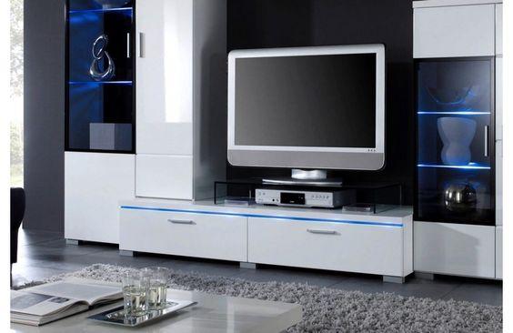 Meuble télé lumineux White -  #meubletele