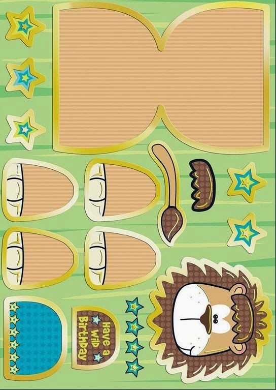 Lion: Cute Free Printable Paper Toy.