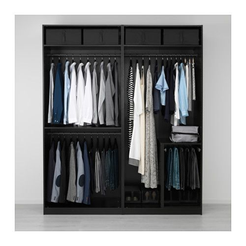 pax armoire penderie brun noir undredal noir organisation de dressing armoires et placard. Black Bedroom Furniture Sets. Home Design Ideas