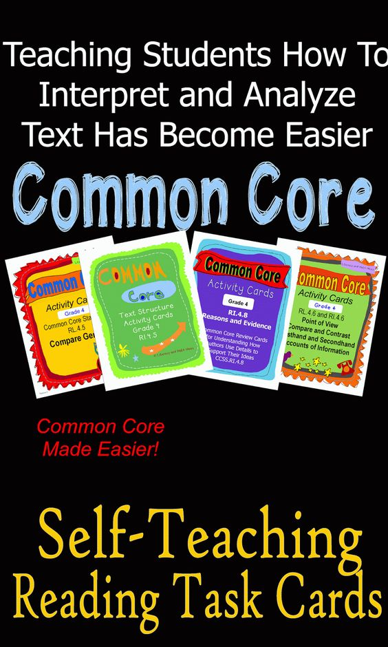 These task cards are unique because they TEACH and REVIEW how to interpret and analyze text.  Informational and literature passages are included on each task card. Questions are posed at different levels of Bloom's Taxonomy and at different DOK complexity levels.  Topical practice is included to help students master each individual reading standard.~Common Core made easier $