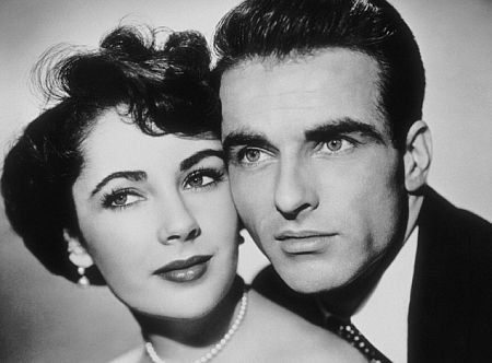 Montgomery Clift with his life-long friend, Elizabeth Taylor.