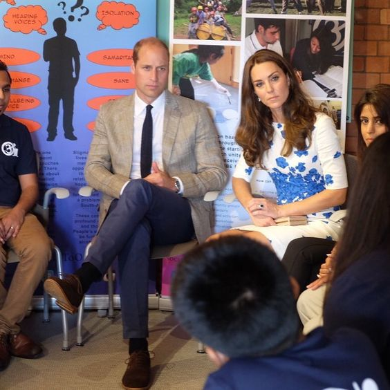 William and kate at keech hospice care