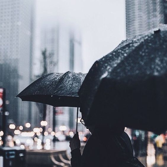 Rainy day in the city: