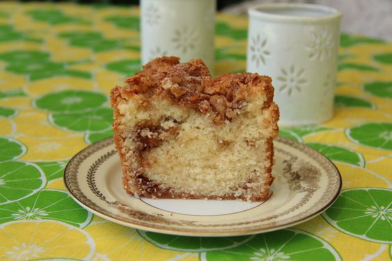 Cinnamon Walnut Coffee Cake: The perfect afternoon treat for a rainy day.