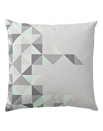 Bloomingville Kissen grau/ mintfarbene Dreiecke - Bloomingville bei Bertine