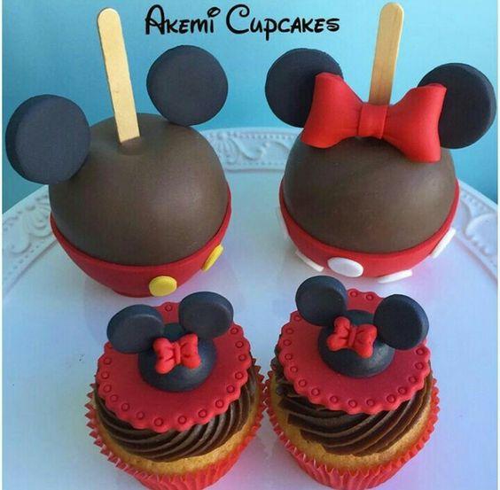 Inspiração maçãs e cupcakes