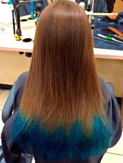 20 Dip Dye Hair Ideas Delight For All Dip Dye Hair Blue Tips Hair Dipped Hair