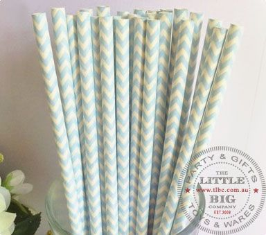 Blue Chevron Paper Straws 25 straws | Light Blue | Shop By Colour | Party Collection | The Little Big Company Pty Ltdparty, glass bottles, swizzle sticks, beverage dispenser, birthday, gift, rock candy