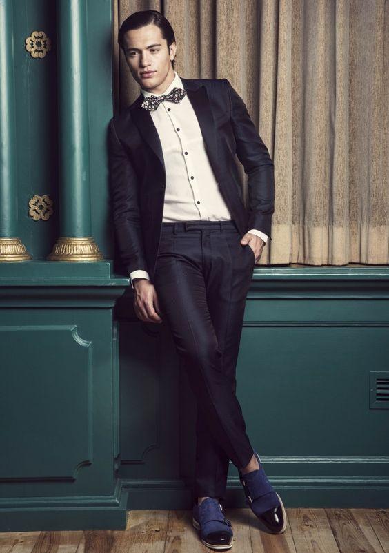 Smoking, camisa e sapatos Miguel Vieira com laço Personal tailor – servic