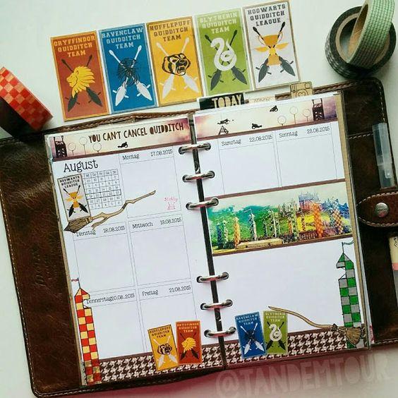 FAVtastic Customize Quidditch Theme | Harry Potter | Gryffindor | Filofax | Planner | Organizer | Inspiration | Ideas