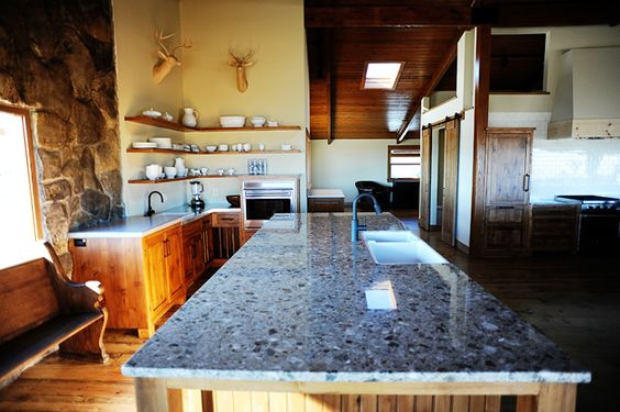 """Who knew that I would ever care about """"the baking area"""" of anyone's kitchen...but I find this one pretty cool! Hey if I would've had a kitchen like this I might have started baking bread a looooong time ago. Lol!"""