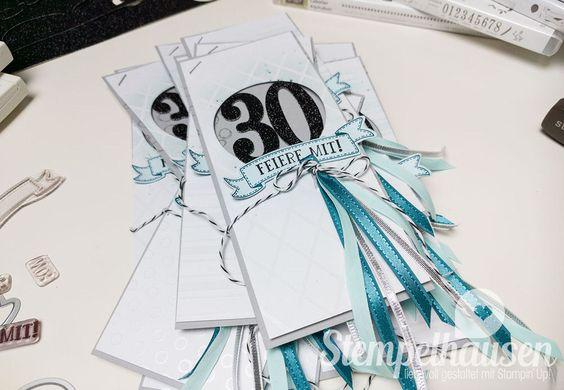 inladungskarten 30 Geburtstagsbanner So viele Jahre