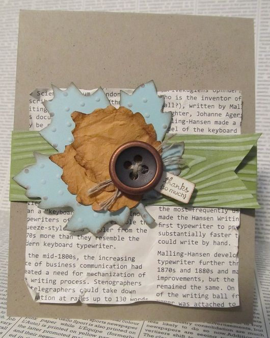 """Jane Lee: """"I love using non-traditional colors when I'm creating seasonal projects. Pool Party and Lucky Limeade seem like the perfect fall colors. I dare you not to love them."""" http://www.facebook.com/photo.php?fbid=10151207677997512"""
