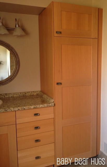 ikea kitchen made into 39 custom 39 bathroom vanity ikea