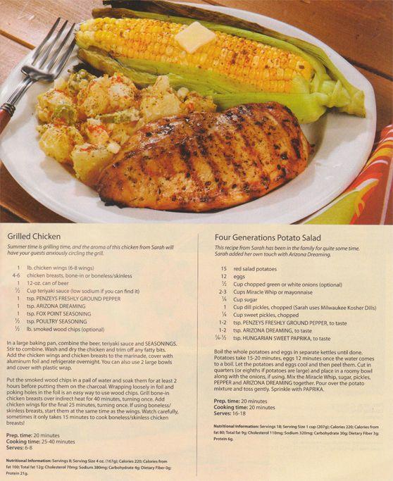 Grilled Chicken (Penzey's)