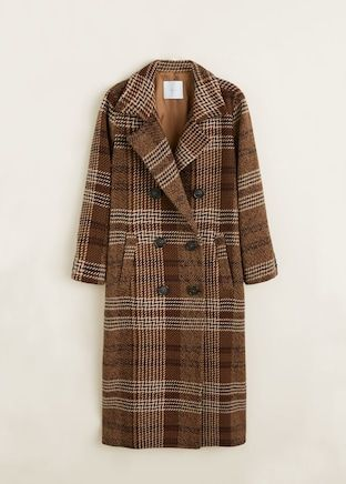 Checked wool coat. FW Trends 2018/2019
