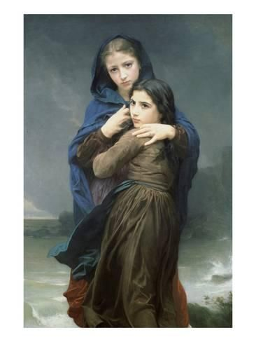 Art Print: The Storm by William Adolphe Bouguereau : 24x18in