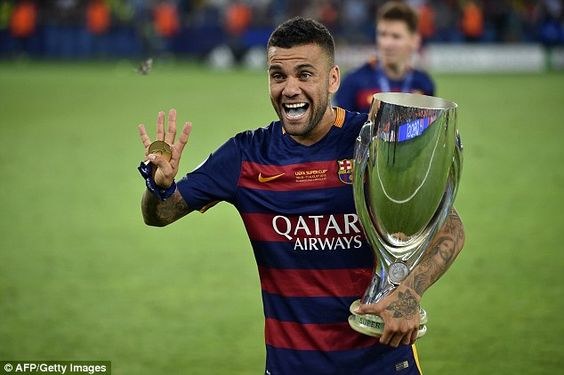 Dani Alves won 23 trophies as a Barcelona player before moving on to Juventus…