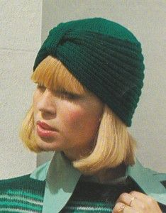 Knitting Patterns For Turban Hats : Vintage *Knitting pattern*- stylish turban style hat to ...