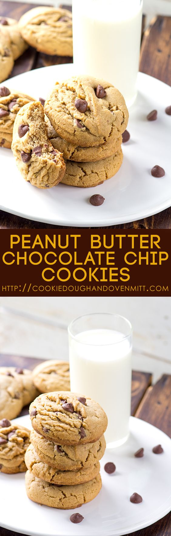 If you need a soft and thick cookie that's perfect for the holidays, these peanut butter chocolate chip cookies are perfect. They're amazing with coffee too