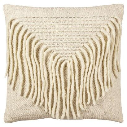 Nate Berkus Woven Fringe pillow home goods Pinterest Macrame, Armchairs and The o jays