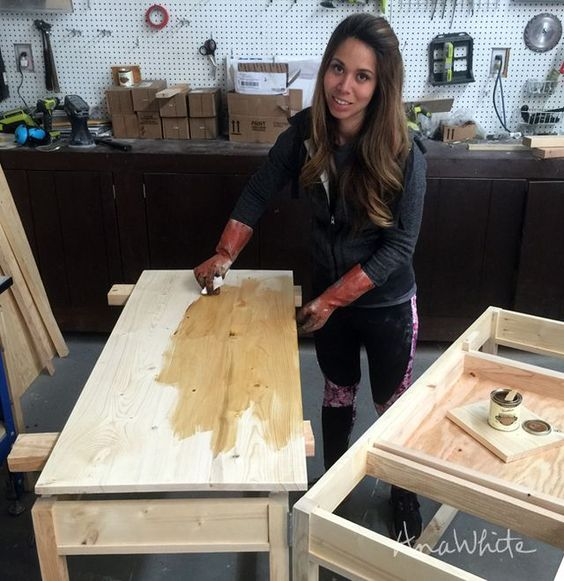 Click here to read the rest of this post about How I Stain Wood Hello DIY Friends! We are on the finishing stretch of our Tiny House project, and we can't wait to share all the projects with you. The