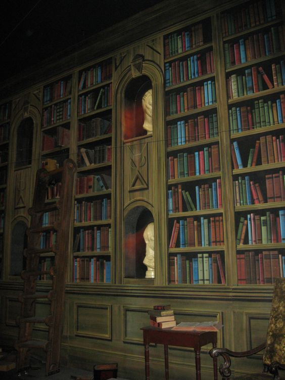 dream library inside the haunted mansion disney world