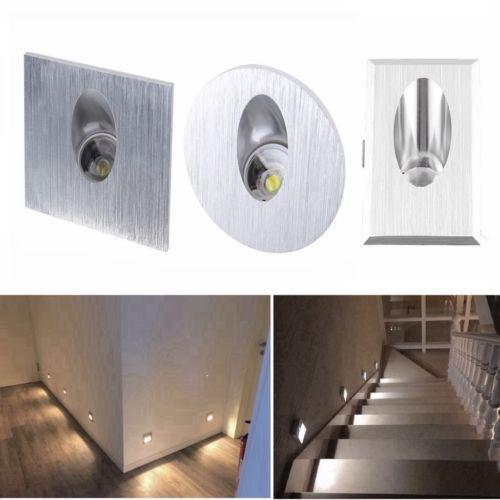 Details Sur 1w Led Spot Mur Encastrable Eclairage Escalier Couloir Passage 220v Mural Lampe Eclairage Escalier Parement Mural Escalier