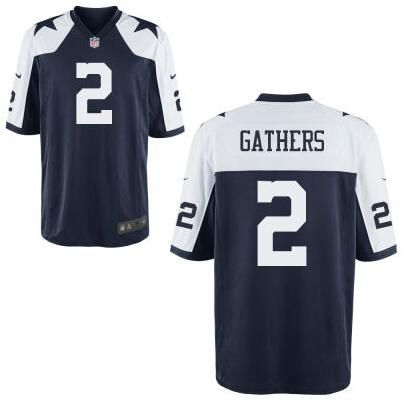 Jerseys NFL Outlet - NFL Dallas Cowboys #2 Rico Gathers Nike Navy Blue Throwback Elite ...