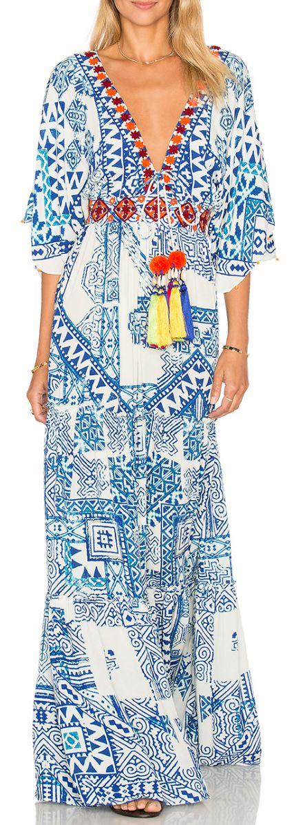 Batik Print Maxi Dress