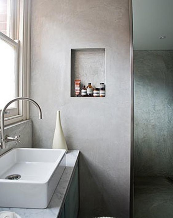 Concrete Walls Industrial And Wall Niches On Pinterest