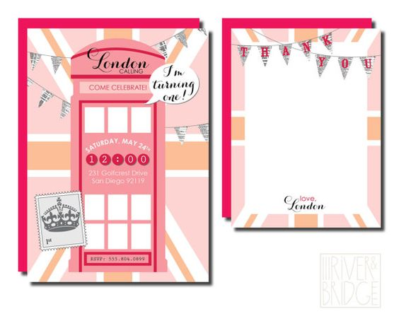 london calling: girls // birthday party by riverandbridge on Etsy