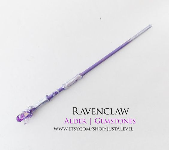 Crystal caverns harry potter inspired wand ravenclaw for Galaxy wand