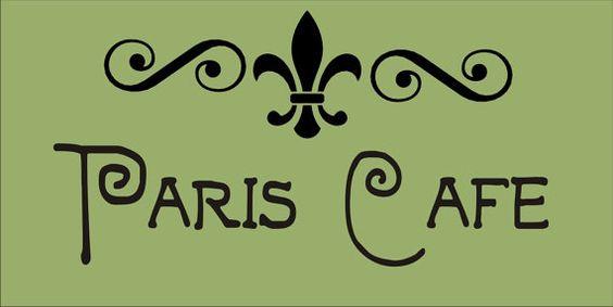 Café de París de 12 ancho x 6 de la plantilla por SuperiorStencils
