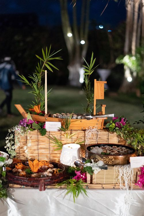Gorgeous Japanese Food Arrangement For Wedding Catering In Bali Food For Special Events Food For Special Event Wedding Catering