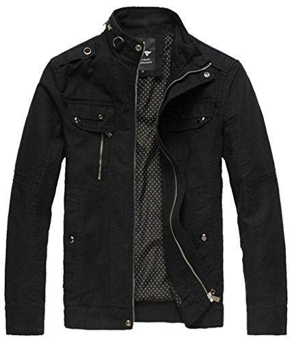 Men's Casual Slim Jacket & Outcoat LD2188 Black-2188 US Large Mr ...