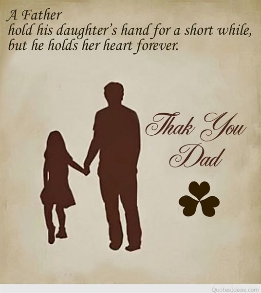A Father Hold His Daughter S Hand For A Short While But He Holds Her Heart Forever Thank Y Happy Fathers Day Images Happy Fathers Day Gif Fathers Day Images