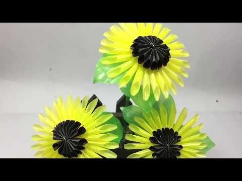 Bunga Matahari Dari Sedotan Youtube Bunga Bunga Kertas Bunga