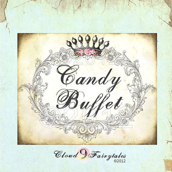 Free Printable Candy Buffet Labels | Buffet Sign - Candy ...