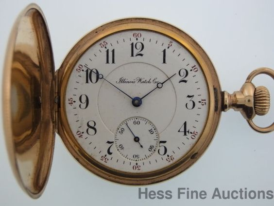 Antique Genuine Illinois 3 Finger Bridge 17J 16s Mens Hunter Pocket Watch to Fix
