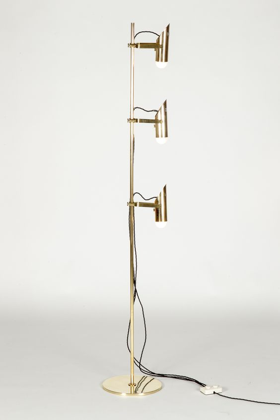 Reggiani Floor Lamp Spots Brass 60's