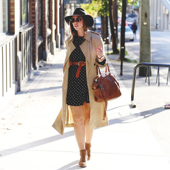 Polka Dotted Fall Outfit