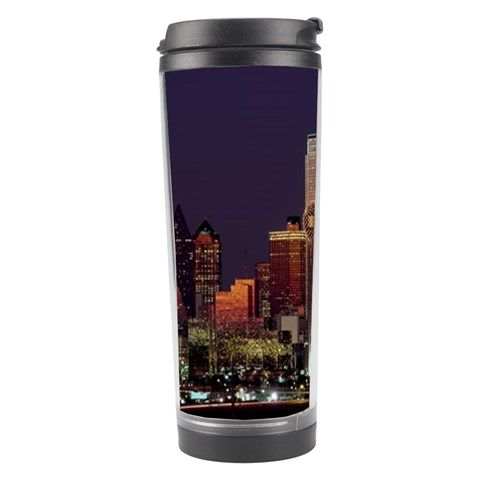 Dallas Skyline At Night Travel Tumbler