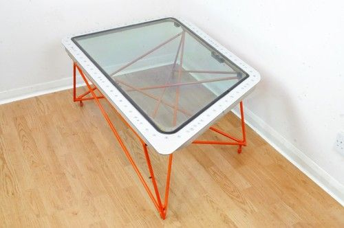 Orange Window Table Made By Dappr Aviation Furniture Coffee Table
