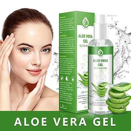Aloe Vera Gel 100 Bio Fur Gesicht Haare Und Korper Vegan Rein Und Naturlich Feuchtigkeitscreme Ideal Fur Sonnenbrand Reparieren Trocke