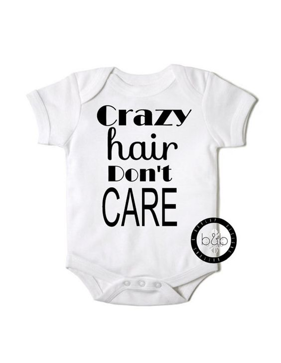Crazy Hair Onesie on Etsy - buy it now - $15.99