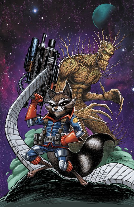 Star Lord And Rocket Raccoon By Timothygreenii On Deviantart: Rocket Raccoon And Groot By Ross Hughes