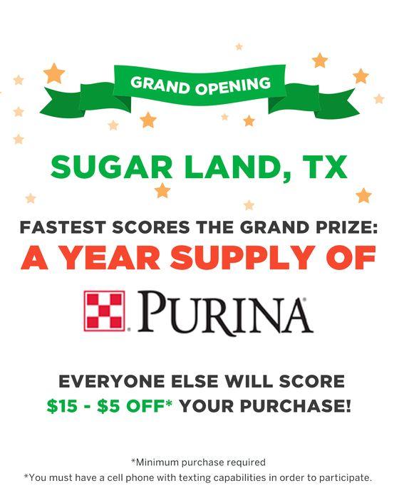 Pet Supplies Plus Sugar Land Grand Opening Celebration Pet