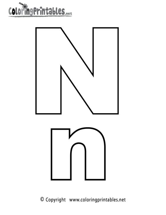 Alphabet Letter N Coloring Page