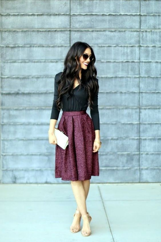 Figure hugging dress is yet another great choice to make from several others Casual Work Outfits Ideas 2016. Incredible combination for professionalism is
